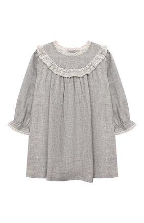 Женский платье из вискозы TARTINE ET CHOCOLAT серого цвета, арт. TT30111/18M-3A | Фото 1 (Материал внешний: Вискоза; Рукава: Длинные; Материал подклада: Хлопок)