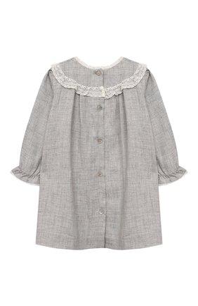Женский платье из вискозы TARTINE ET CHOCOLAT серого цвета, арт. TT30111/18M-3A | Фото 2 (Материал внешний: Вискоза; Рукава: Длинные; Материал подклада: Хлопок)
