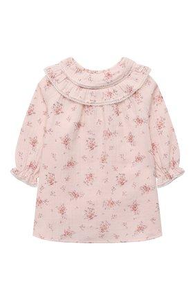 Женский хлопковое платье TARTINE ET CHOCOLAT светло-розового цвета, арт. TT30181/1M-1A | Фото 1 (Материал внешний: Хлопок; Рукава: Длинные)