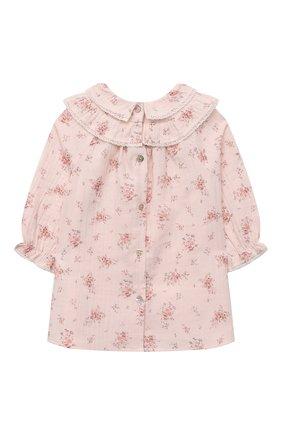 Женский хлопковое платье TARTINE ET CHOCOLAT светло-розового цвета, арт. TT30181/18M-3A | Фото 2 (Рукава: Длинные; Материал внешний: Хлопок)