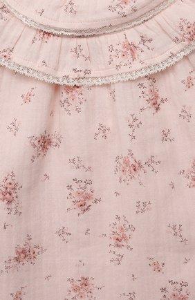 Женский хлопковое платье TARTINE ET CHOCOLAT светло-розового цвета, арт. TT30181/18M-3A | Фото 3 (Рукава: Длинные; Материал внешний: Хлопок)