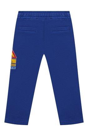 Детские хлопковые брюки DOLCE & GABBANA синего цвета, арт. L1JPDK/G7A7U   Фото 2 (Материал внешний: Хлопок; Ростовка одежда: 12 мес   80 см, 18 мес   86 см, 24 мес   92 см, 3 мес   62 см, 6 мес   68 см, 9 мес   74 см)