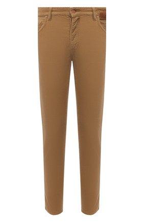 Мужские джинсы PALM ANGELS бежевого цвета, арт. PMYA012F21DEN0016161 | Фото 1 (Длина (брюки, джинсы): Стандартные; Материал внешний: Хлопок; Случай: Повседневный; Стили: Гранж)
