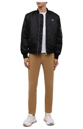 Мужские джинсы PALM ANGELS бежевого цвета, арт. PMYA012F21DEN0016161 | Фото 2 (Длина (брюки, джинсы): Стандартные; Материал внешний: Хлопок; Случай: Повседневный; Стили: Гранж)