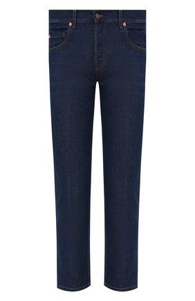 Мужские джинсы GUCCI темно-синего цвета, арт. 408637/XDB03   Фото 1 (Длина (брюки, джинсы): Стандартные; Материал внешний: Хлопок; Кросс-КТ: Деним; Силуэт М (брюки): Прямые; Стили: Кэжуэл)