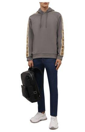 Мужские джинсы GUCCI темно-синего цвета, арт. 408637/XDB03   Фото 2 (Длина (брюки, джинсы): Стандартные; Материал внешний: Хлопок; Кросс-КТ: Деним; Силуэт М (брюки): Прямые; Стили: Кэжуэл)