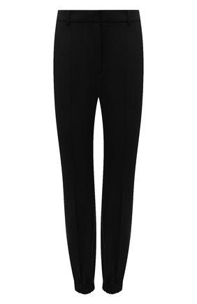 Женские шерстяные брюки ALEXANDER MCQUEEN черного цвета, арт. 663861/QJACH | Фото 1 (Материал внешний: Шерсть; Женское Кросс-КТ: Брюки-одежда; Силуэт Ж (брюки и джинсы): Джоггеры; Стили: Кэжуэл; Длина (брюки, джинсы): Стандартные)