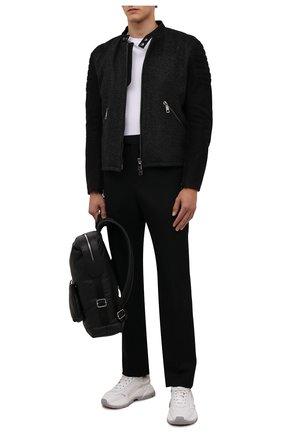 Мужская утепленная куртка DOLCE & GABBANA темно-серого цвета, арт. G9VM7L/GEU10 | Фото 2 (Материал подклада: Вискоза; Кросс-КТ: Куртка; Мужское Кросс-КТ: утепленные куртки; Стили: Кэжуэл; Рукава: Длинные; Длина (верхняя одежда): Короткие)