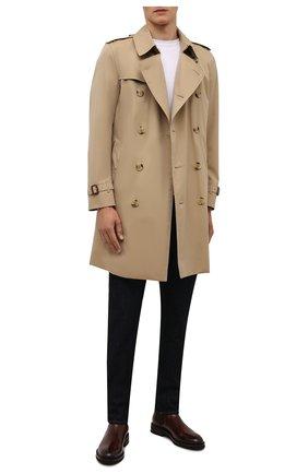 Мужские кожаные челси BRUNELLO CUCINELLI темно-коричневого цвета, арт. MZUVA0K853 | Фото 2 (Подошва: Плоская; Материал внутренний: Натуральная кожа; Мужское Кросс-КТ: Сапоги-обувь, Челси-обувь)