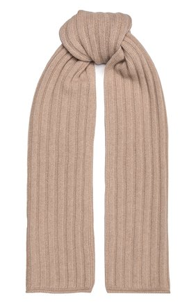 Женский кашемировый шарф ALLUDE бежевого цвета, арт. 215/60631 | Фото 1 (Материал: Кашемир, Шерсть)