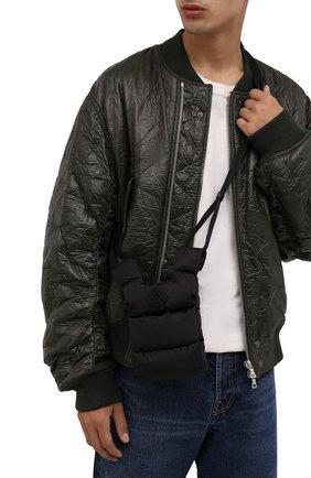 Мужская текстильная сумка MONCLER черного цвета, арт. G2-09A-6B500-00-68950 | Фото 2 (Материал: Текстиль; Ремень/цепочка: На ремешке)