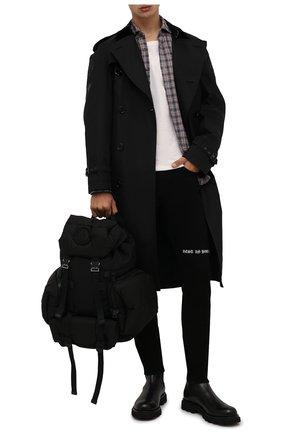 Мужской текстильный рюкзак area MONCLER черного цвета, арт. G2-09A-5A601-00-02T02 | Фото 2 (Ремень/цепочка: На ремешке; Материал: Текстиль)