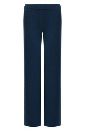 Женские кашемировые брюки LORO PIANA синего цвета, арт. FAL7040 | Фото 1 (Материал внешний: Кашемир, Шерсть; Женское Кросс-КТ: Брюки-одежда; Силуэт Ж (брюки и джинсы): Прямые; Стили: Спорт-шик; Длина (брюки, джинсы): Удлиненные)
