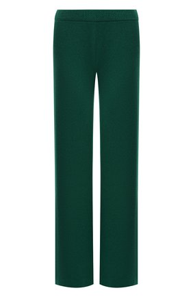 Женские кашемировые брюки LORO PIANA темно-зеленого цвета, арт. FAL7040 | Фото 1 (Материал внешний: Шерсть, Кашемир; Женское Кросс-КТ: Брюки-одежда; Силуэт Ж (брюки и джинсы): Прямые; Стили: Спорт-шик; Длина (брюки, джинсы): Удлиненные)