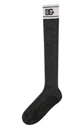 Женские носки DOLCE & GABBANA черного цвета, арт. FC199Z/G3LAD | Фото 1 (Материал внешний: Вискоза)