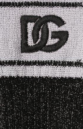 Женские носки DOLCE & GABBANA черного цвета, арт. FC199Z/G3LAD | Фото 2 (Материал внешний: Вискоза)