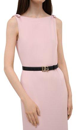 Женский кожаный ремень DOLCE & GABBANA черного цвета, арт. BE1447/AW070 | Фото 2