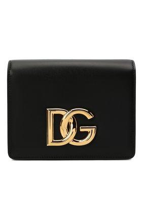 Женская сумка dg millennials DOLCE & GABBANA черного цвета, арт. BB7037/AW576   Фото 1 (Размер: mini; Материал: Натуральная кожа; Ремень/цепочка: На ремешке; Сумки-технические: Сумки через плечо)