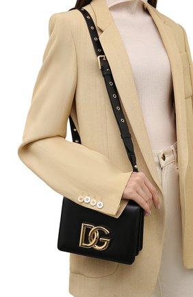 Женская сумка dg millennials DOLCE & GABBANA черного цвета, арт. BB7037/AW576   Фото 2 (Размер: mini; Материал: Натуральная кожа; Ремень/цепочка: На ремешке; Сумки-технические: Сумки через плечо)