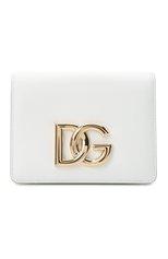Женская сумка dg millennials DOLCE & GABBANA белого цвета, арт. BB7037/AW576 | Фото 1 (Ремень/цепочка: На ремешке; Размер: mini; Материал: Натуральная кожа; Сумки-технические: Сумки через плечо)