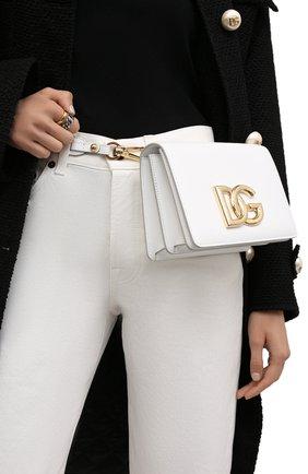 Женская сумка dg millennials DOLCE & GABBANA белого цвета, арт. BB7037/AW576 | Фото 2 (Ремень/цепочка: На ремешке; Размер: mini; Материал: Натуральная кожа; Сумки-технические: Сумки через плечо)