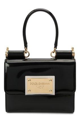 Женская сумка sicily DOLCE & GABBANA черного цвета, арт. BB7026/A1037   Фото 1 (Материал: Натуральная кожа; Размер: small; Сумки-технические: Сумки top-handle, Сумки через плечо; Женское Кросс-КТ: Вечерняя сумка)