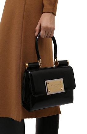 Женская сумка sicily DOLCE & GABBANA черного цвета, арт. BB7026/A1037   Фото 2 (Материал: Натуральная кожа; Размер: small; Сумки-технические: Сумки top-handle, Сумки через плечо; Женское Кросс-КТ: Вечерняя сумка)