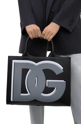 Женский сумка-тоут beatrice small DOLCE & GABBANA черного цвета, арт. BB7023/AQ276   Фото 2 (Размер: small; Материал: Натуральная кожа; Сумки-технические: Сумки-шопперы)