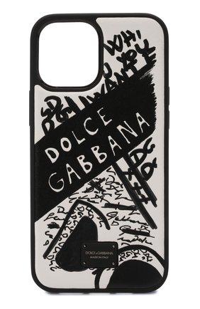Чехол для iphone 12 pro max DOLCE & GABBANA черно-белого цвета, арт. BP2906/AQ276 | Фото 1