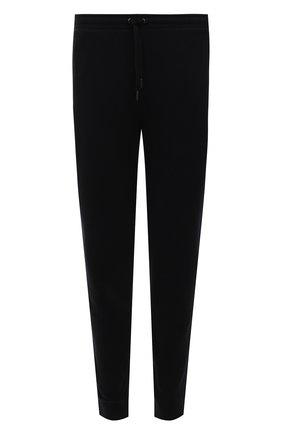 Мужские хлопковые джоггеры DEREK ROSE черного цвета, арт. 9250-DEV0002 | Фото 1 (Материал внешний: Хлопок; Длина (брюки, джинсы): Стандартные; Силуэт М (брюки): Джоггеры; Мужское Кросс-КТ: Брюки-трикотаж; Кросс-КТ: Спорт; Стили: Спорт-шик)