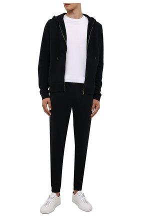 Мужские хлопковые джоггеры DEREK ROSE черного цвета, арт. 9250-DEV0002 | Фото 2 (Материал внешний: Хлопок; Длина (брюки, джинсы): Стандартные; Силуэт М (брюки): Джоггеры; Мужское Кросс-КТ: Брюки-трикотаж; Кросс-КТ: Спорт; Стили: Спорт-шик)