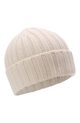 Мужская шерстяная шапка ASPESI кремвого цвета, арт. W1 E 1C01 4037 | Фото 1 (Материал: Шерсть; Кросс-КТ: Трикотаж)