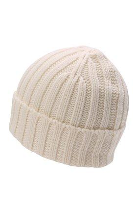 Мужская шерстяная шапка ASPESI кремвого цвета, арт. W1 E 1C01 4037 | Фото 2 (Материал: Шерсть; Кросс-КТ: Трикотаж)