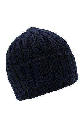 Мужская шерстяная шапка ASPESI темно-синего цвета, арт. W1 E 1C01 4037 | Фото 1 (Материал: Шерсть; Кросс-КТ: Трикотаж)