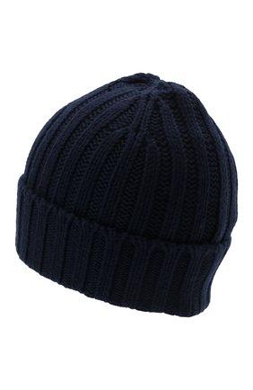 Мужская шерстяная шапка ASPESI темно-синего цвета, арт. W1 E 1C01 4037 | Фото 2 (Материал: Шерсть; Кросс-КТ: Трикотаж)