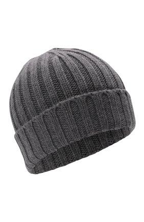 Мужская шерстяная шапка ASPESI серого цвета, арт. W1 E 1C01 4037 | Фото 1 (Материал: Шерсть; Кросс-КТ: Трикотаж)