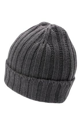 Мужская шерстяная шапка ASPESI серого цвета, арт. W1 E 1C01 4037 | Фото 2 (Материал: Шерсть; Кросс-КТ: Трикотаж)