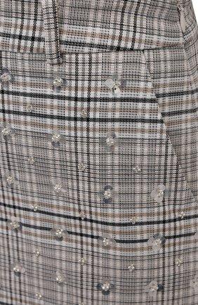 Женские шорты с отделкой пайетками SELF-PORTRAIT серого цвета, арт. AW21-141 | Фото 5 (Женское Кросс-КТ: Шорты-одежда; Длина Ж (юбки, платья, шорты): Мини; Материал внешний: Синтетический материал; Материал подклада: Синтетический материал; Стили: Кэжуэл)