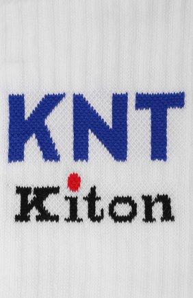 Мужские хлопковые носки KNT белого цвета, арт. UCALZ01X0237A | Фото 2 (Материал внешний: Хлопок; Кросс-КТ: бельё)