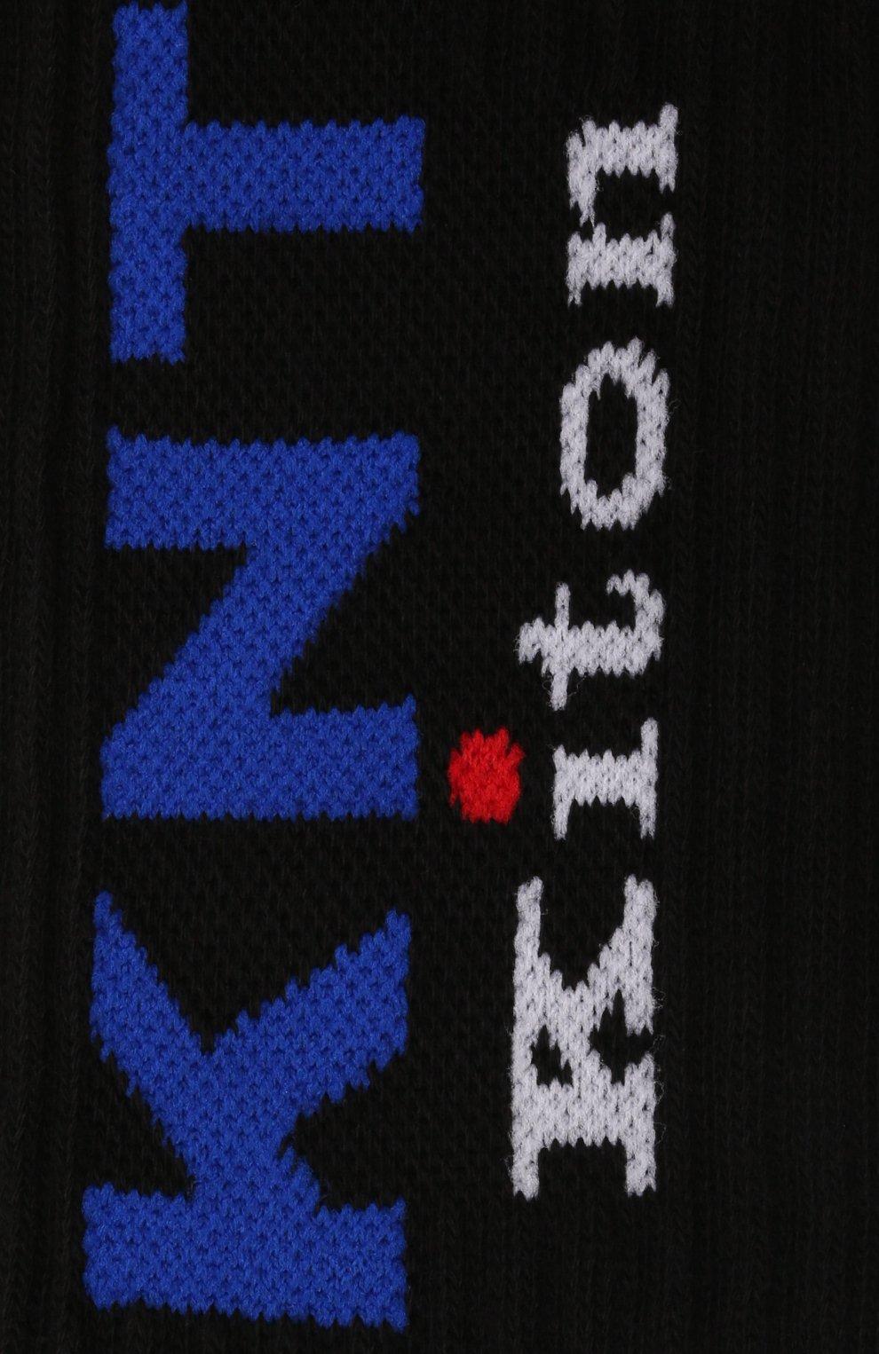 Мужские хлопковые носки KNT черного цвета, арт. UCALZ01X0238A | Фото 2 (Кросс-КТ: бельё; Материал внешний: Хлопок)
