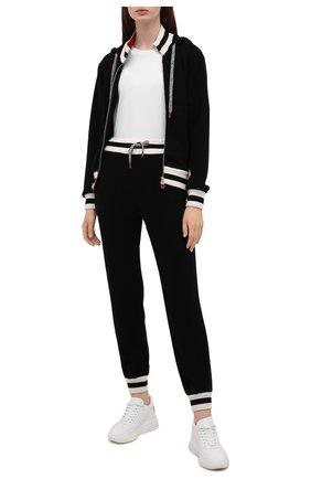 Женский кашемировый кардиган KITON черного цвета, арт. D52733K0536A   Фото 2 (Материал внешний: Кашемир, Шерсть; Рукава: Длинные; Длина (для топов): Стандартные; Женское Кросс-КТ: Кардиган-одежда; Стили: Спорт-шик)