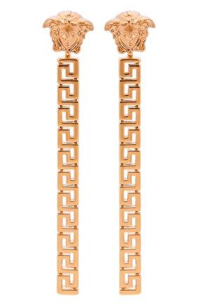 Женские серьги greca VERSACE золотого цвета, арт. 1000867/1A00620 | Фото 1 (Материал: Металл)