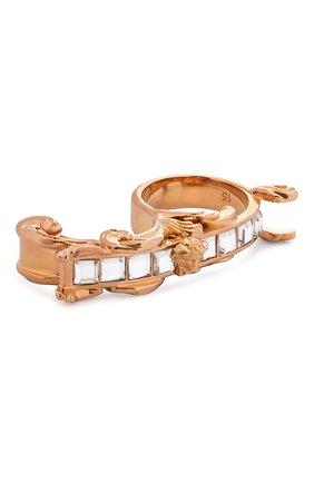 Женское кольцо VERSACE золотого цвета, арт. 1000870/1A00621 | Фото 1 (Материал: Металл)