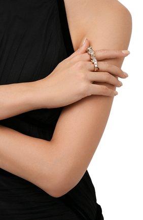 Женское кольцо VERSACE золотого цвета, арт. 1000870/1A00621 | Фото 2 (Материал: Металл)