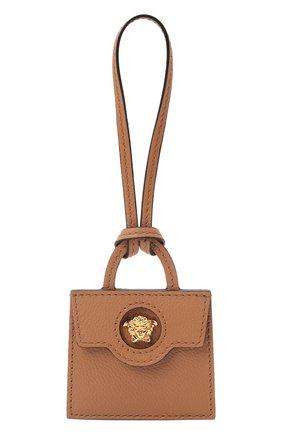 Женский брелок для ключей VERSACE бежевого цвета, арт. 1001117/1A00740   Фото 1