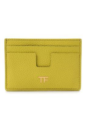 Женский кожаный футляр для кредитных карт TOM FORD зеленого цвета, арт. S0250T-LCL095 | Фото 1