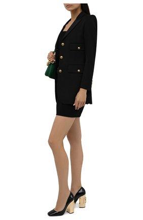 Женские кожаные туфли jackie DOLCE & GABBANA черного цвета, арт. CD1644/AQ130 | Фото 2 (Подошва: Плоская; Материал внутренний: Натуральная кожа; Каблук высота: Высокий; Каблук тип: Устойчивый)