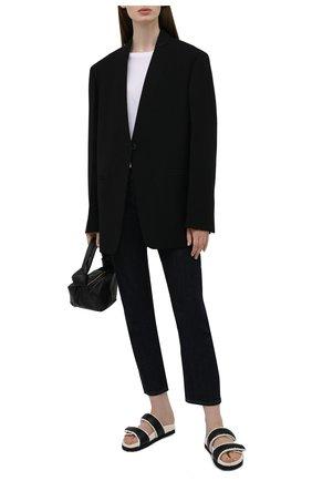 Женские кожаные шлепанцы GIA COUTURE черного цвета, арт. PERNI-11 A 127 | Фото 2 (Материал внутренний: Текстиль; Подошва: Платформа)