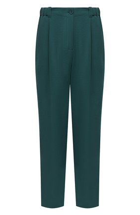 Женские брюки KENZO зеленого цвета, арт. FB62PA0275AJ   Фото 1 (Длина (брюки, джинсы): Стандартные; Материал внешний: Синтетический материал; Женское Кросс-КТ: Брюки-одежда; Силуэт Ж (брюки и джинсы): Прямые; Стили: Кэжуэл)