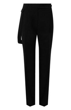 Женские шерстяные брюки BURBERRY черного цвета, арт. 8044683   Фото 1 (Материал подклада: Купро; Длина (брюки, джинсы): Удлиненные; Материал внешний: Шерсть; Женское Кросс-КТ: Брюки-одежда; Силуэт Ж (брюки и джинсы): Прямые; Стили: Кэжуэл)